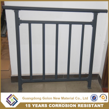 Straight or Curved Aluminum/Iron Balcony Railing Designs