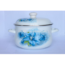 China style durable enamel big body pot&casserole with plastic lid