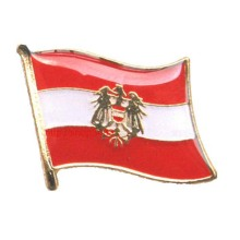 100% Original Factory for Cross Flag Pins Austria Flag Design Lapel Pin With Enamel Colors export to Indonesia Exporter
