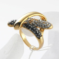 Wholesale Small flower Classic Fashion Ring Gold and Silver color