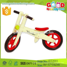 ET2001 Naturaleza madera color rojo mat balance juguetes bicicleta de madera