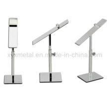Stainless Steel Shoes Exhibition Holder Height Adjustable Table Display Rack