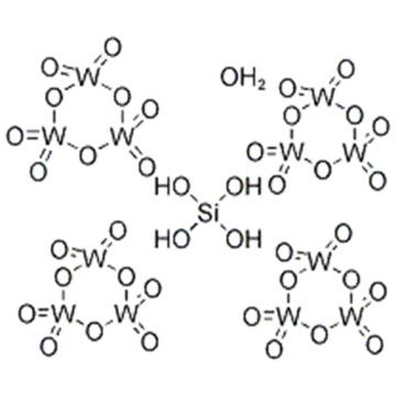 Tungstate(4-), [m12-[orthosilicato(4-)-kO:kO:kO:kO':kO':kO':kO'':kO'':kO'':kO''':kO''':kO''']]tetracosa-m-oxododecaoxododeca-, hydrogen, hydrate (1:4:?) CAS 12027-43-9