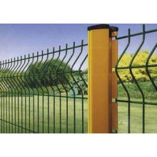 Plastic Vinyl Coated Garden Wire Mesh Fence , Yellow Wire F