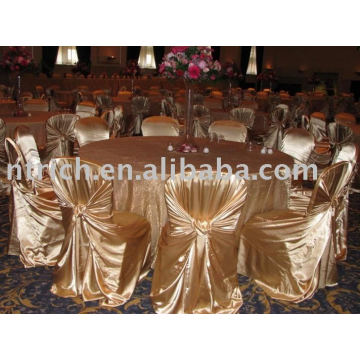 Satin bag/universal chair cover,hotel self-tie chair cover