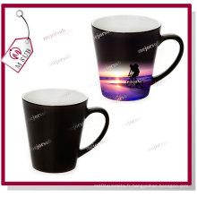 12oz couleur noire brillant Latte chaleur sensible changeant de couleur Mug