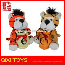 caixas de dinheiro do tigre crianças por atacado, caixas de dinheiro de pelúcia animal bonito