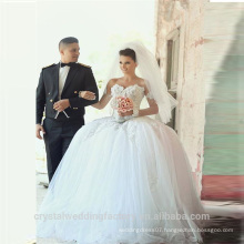2015 Alibaba Latest Dress Designs Wholesale Elegant Lace Ball Gown Wedding Dresses With ruffles In Dubai LW10