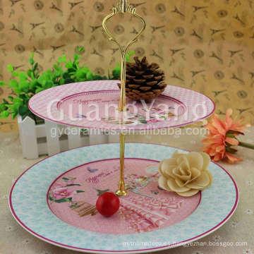 Platos para cenas esmaltadas de porcelana de calidad brillante