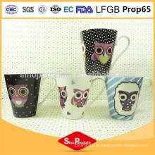 275ml Nueva taza cónica de China del hueso, taza de café de cerámica