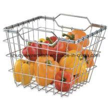 Стальная Проволока Овоща Плодоовощ, Корзины Хранения