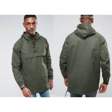 Men′s Pullover Green Waterproof Hooded