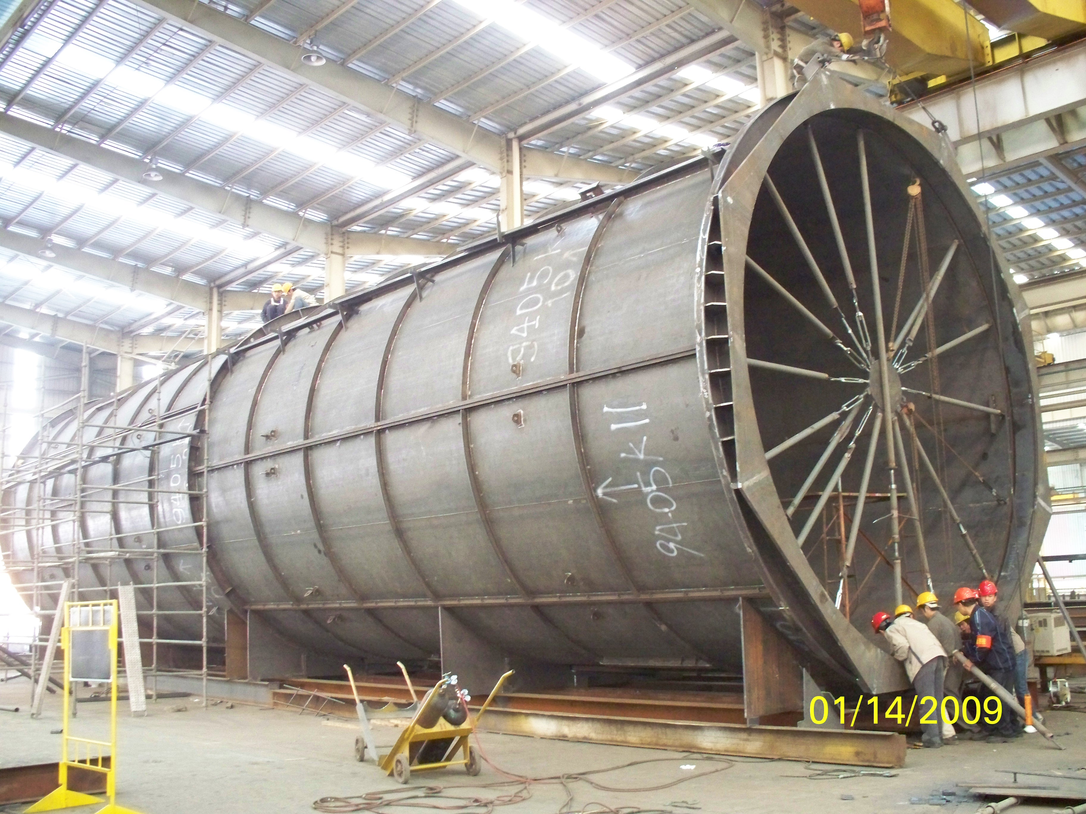 Steel Structures Exhaust System For French Alstom Power Plant Equipment pic eight