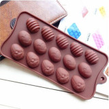 15 Holes Egg-Shaped Silicone Chocolate Mould