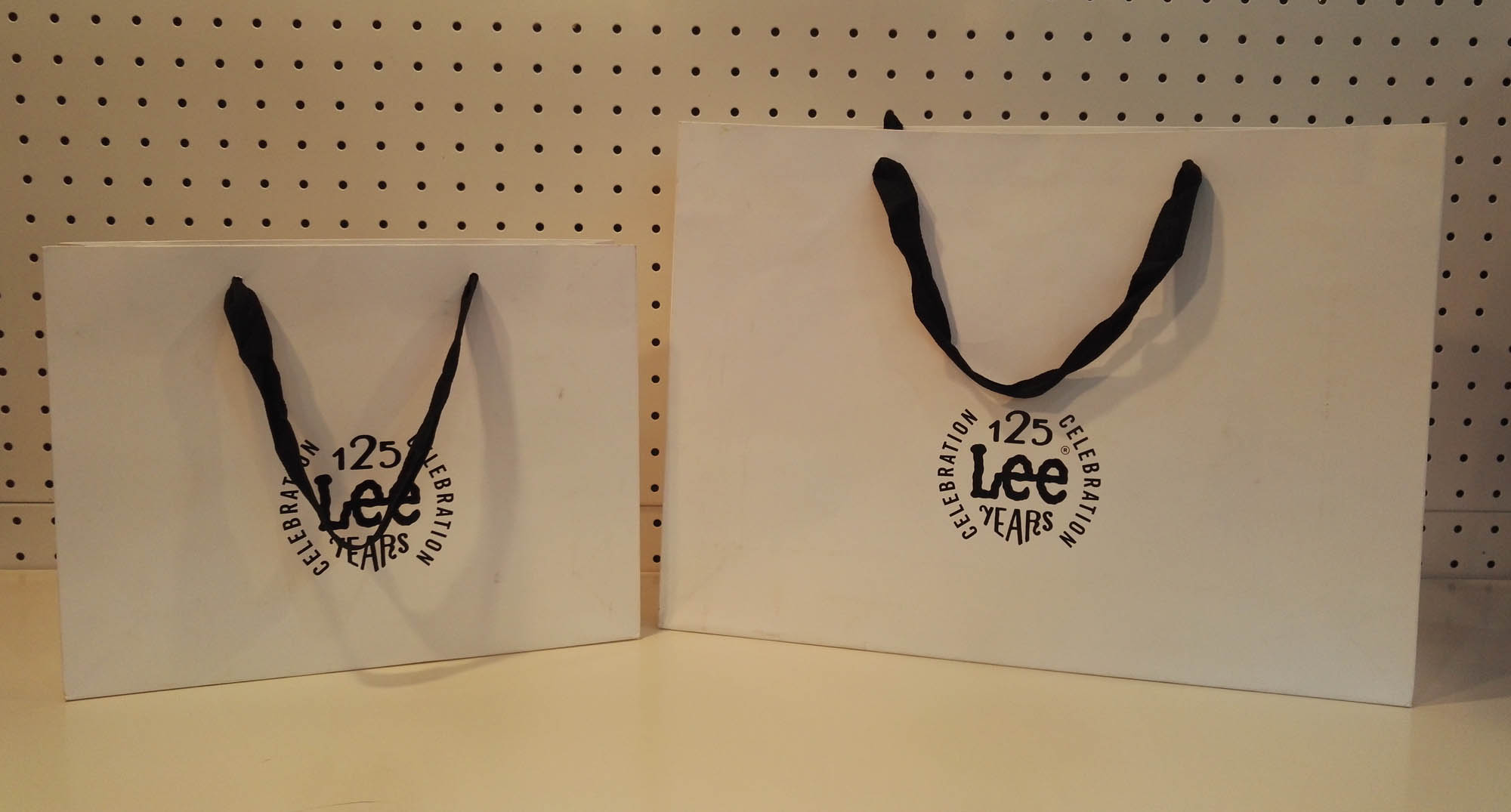 White Kraft shopping bag with handle