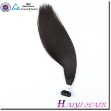 Durante a noite de envio em linha reta cabelo peruano virgem feixes de cabelo com fechamento do laço Cabelo Liso Malaio