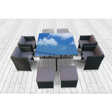 Wicker Möbel Esszimmer für Outdoor mit 4 Sitzer (8219s KD)