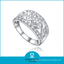 OEM Accepted Zircon 925 Sterling Silver Ring for Ladies (R-0420)