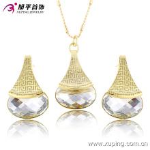 Xuping женщины последняя модель мода ювелирные изделия CZ Кристалл комплект ювелирных изделий Eements -63671