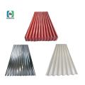 Hoja de acero corrugado galvanizado recubierto de color