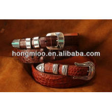 Fashion custom pattern strap genuine leather golf belt