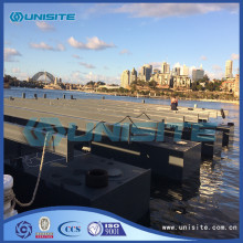 Marine construction floating steel pontoon