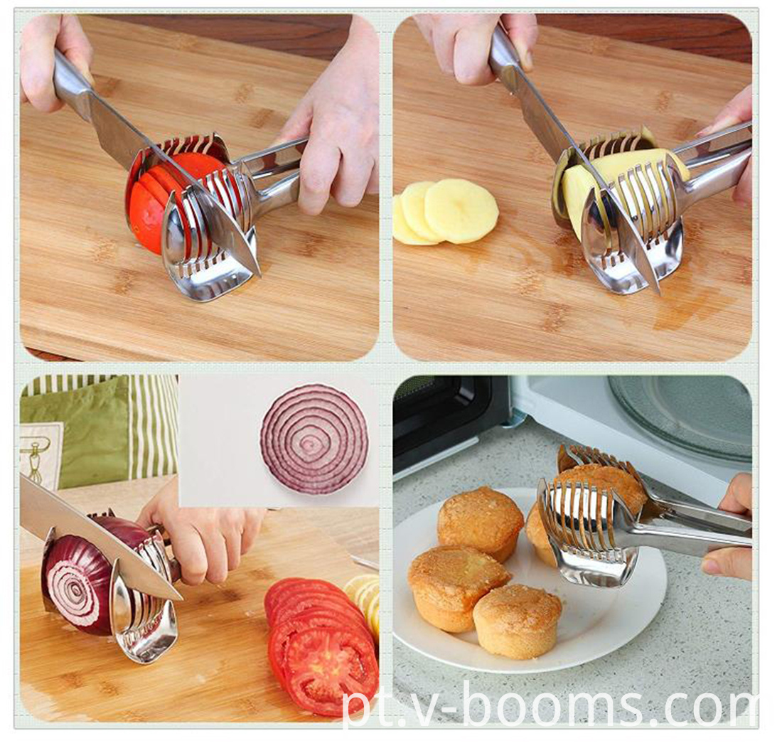Stainless Steel Tomato Slicer Vegetable Holder