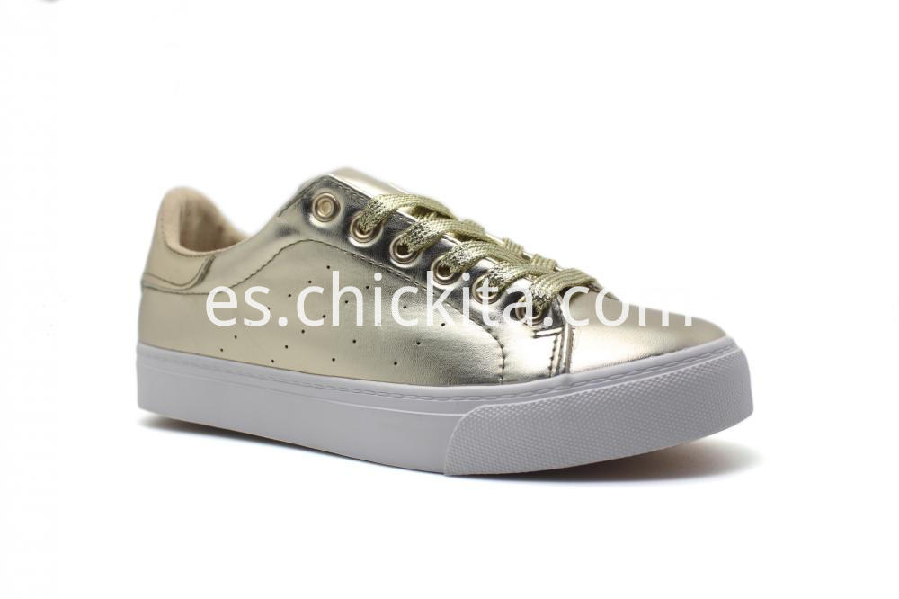 Classic Women Sneakers On White Sole Shoes