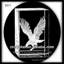 Rectángulo de cristal láser 3D K9 con Flying Eagle