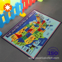 Map Of World Floor Mat With PVC Dots