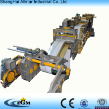 Metal sheet roll forming machine for slitting