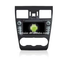 Quad core! Dvd do carro com link espelho / DVR / TPMS / OBD2 para 7 polegada tela de toque quad core 4.4 sistema Android Forester 2014