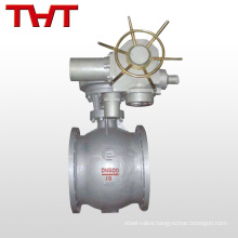 Pneumatic actuated cast steel WCB flange eccentric semi-ball valve