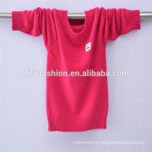 clássico camisola de bebê design suéter de cashmere