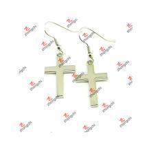 Nova liga cruz design mulheres brincos para presentes de natal (cwe51031)