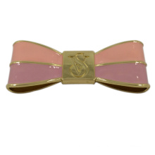 Accesorios de bolso Etiqueta de bowknot pegado metal rosado