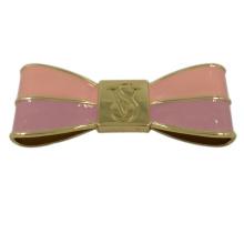 Accessoires pour sacs à main Étiquette bowknot collée en métal rose