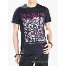 Projete seu próprio logotipo algodão moda atacado personalizado homens camiseta