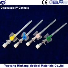 Cânula IV descartável médica / cateter IV tipo de borboleta