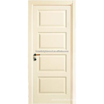 Branco preparado 4 portas de painel Morden estilo Swing hotel MDF