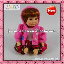 Muñeca de porcelana decorativa pequeña muñecas de cerámica