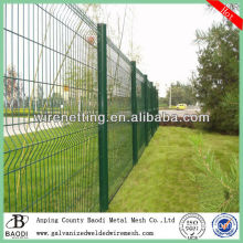 curved pvc grid welded steel wire rope fence