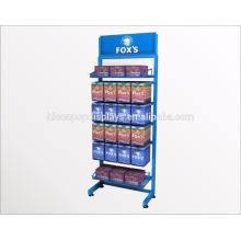 Аптека Производитель Магазин Показывает Freestanding 6-Слой Металлических Стеллажей Аптеке Приспособления Для Продажи