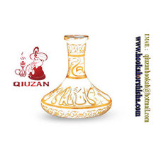 Большой размер мраморные кальян стеклянная ваза бутылка кальян