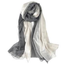 Comprimento total agradável e confortável elegante impresso logotipo personalizado impressão hijab gradiente rampa lenço de poliéster