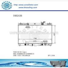 Radiador Para TOYOTA CAMRY 02-04 Aluminio 164000H130 / 164000H131 Fabricante y Venta Directa