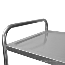 Round Tube Three Layer Dining Trolley