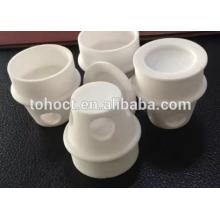 Alumina Zirconia ceramic conical ceramic Crucibles with flange