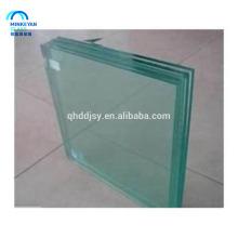 Panneaux de clôture en verre trempé laminé 6 + 6 12mm avec bord poli