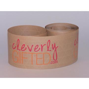 Cinta de logotipo de impresión personalizada de papel kraft para embalaje